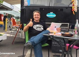 Koldo Royo en su food truck