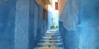 Calles de Chefchaouen-Guía para viajar a Marruecos en furgoneta camper