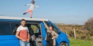 viajar en furgo con niños: la furgoteta