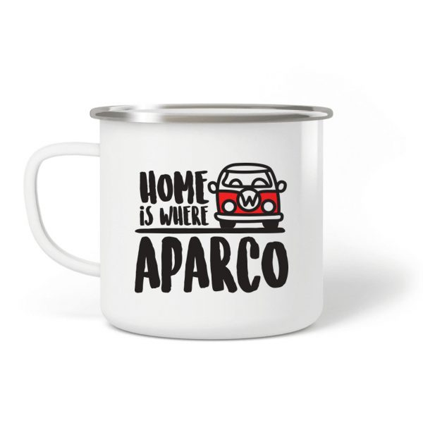 Taza camping acero Home is where aparco