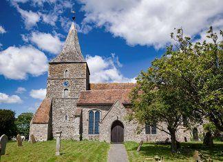 Church camping en plena campiña inglesa