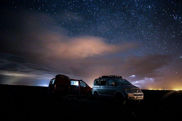 Noche bajo las estrellas en Marruecos