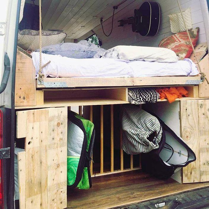 Yo quiero construir la cama de mi furgo sobre una plataforma deslizante