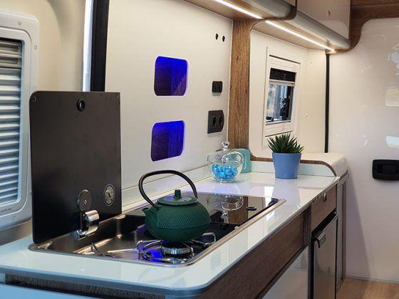 Cocina de la Fiat Ducato