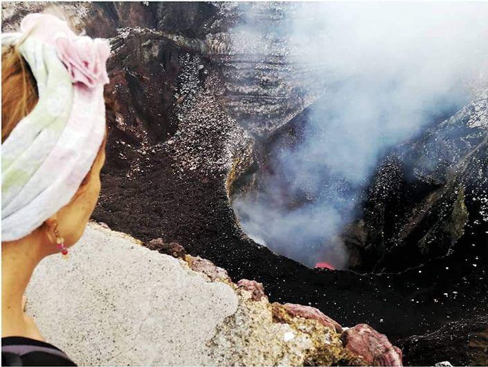 El cráter del volcán Masaya