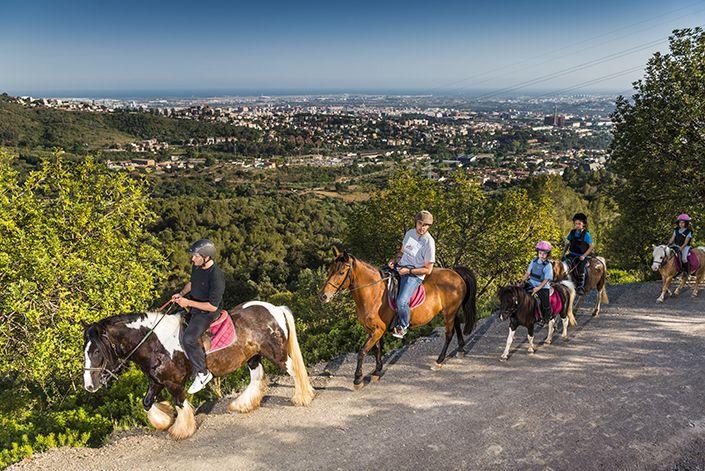 Rutas a caballo por el Baix Llobregat