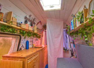 vivir en una furgoneta sin agua caliente