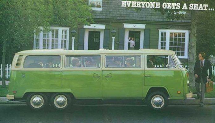 Las 4 Volkswagen T2 más largas del mundo